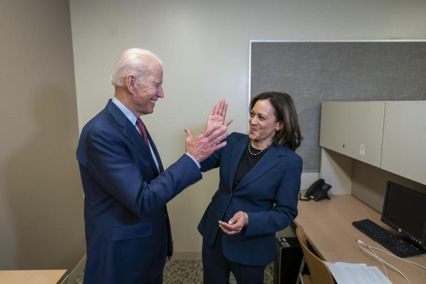 Joe Biden dan Kamala Harris. Kamala Harris punya rekam jejak sebagai jaksa agung dan senator yang agresif. Ilustrasi.
