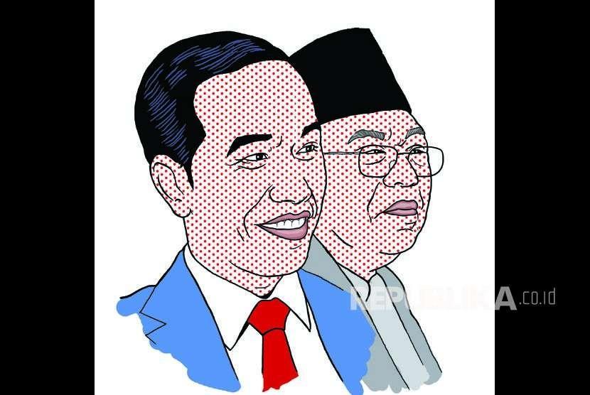 Joko Widodo dan KH Ma'ruf Amin