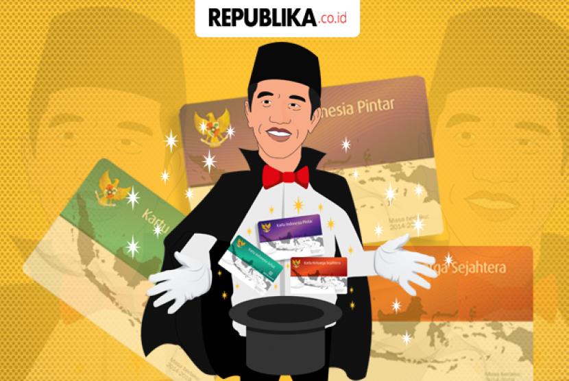 Jokowi dan kartu-kartunya.
