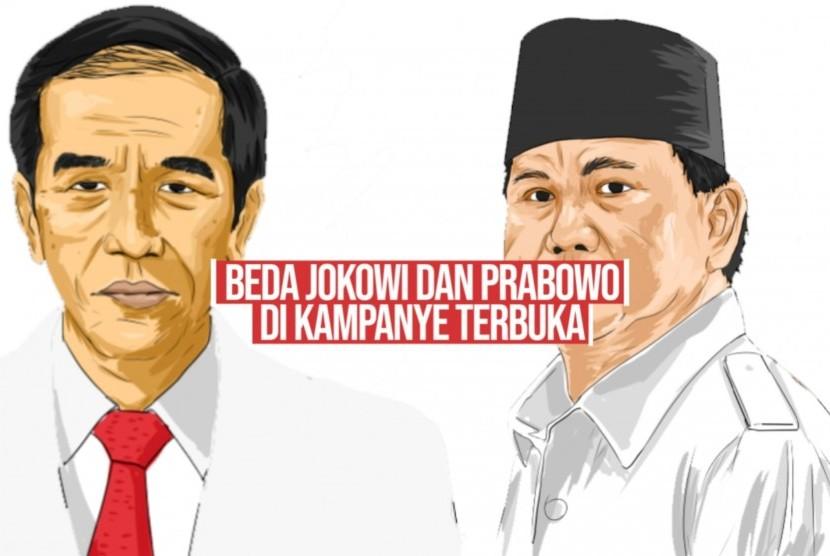 Jokowi dan Prabowo (ilustrasi)