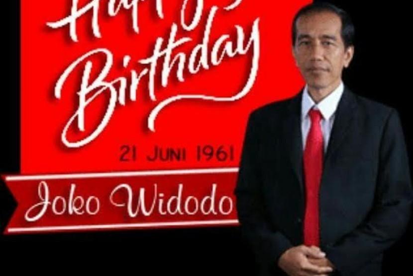 Rayakan Ultah Jokowi Relawan Bagikan Nasi Tumpeng Republika Online