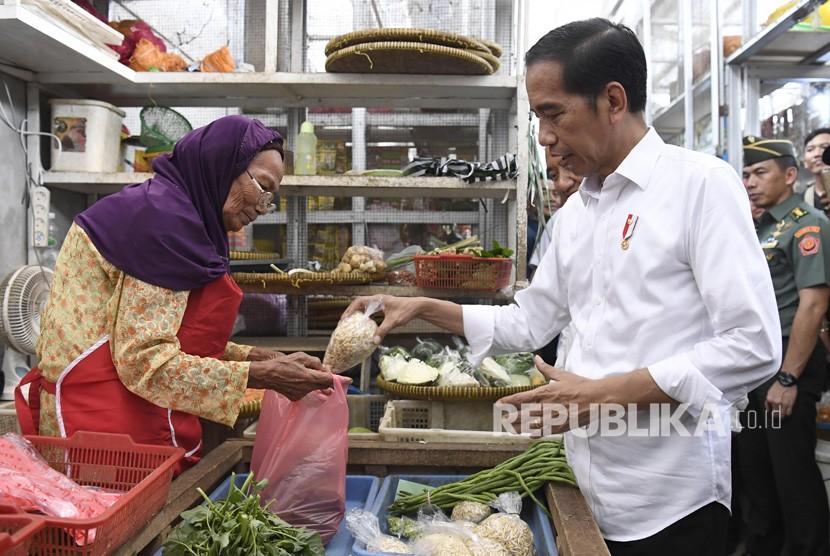 Jokowi Tinjau Pasar / Ilustrasi