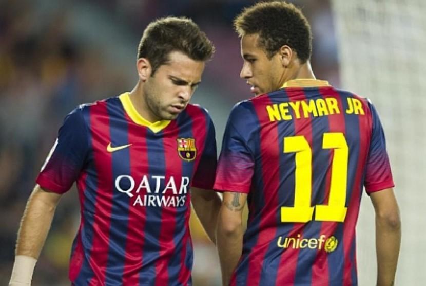 Jordi Alba dan Neymar