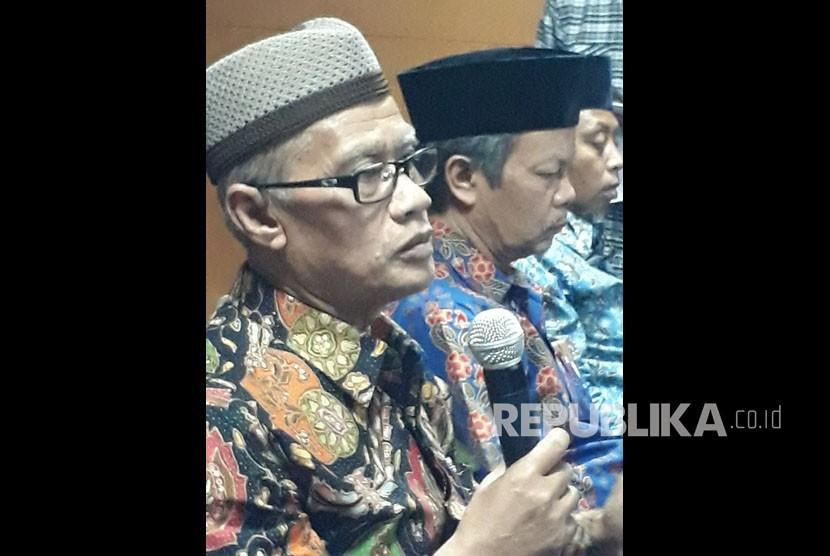 Jumpa pers Jelang Ramadhan di Aula Kantor PP Muhammadiyah, Senin (14/5). Hadir sebagai nara sumber:Haedar Nashir (Ketua Umum Pimpinan Pusat Muhammadiyah),