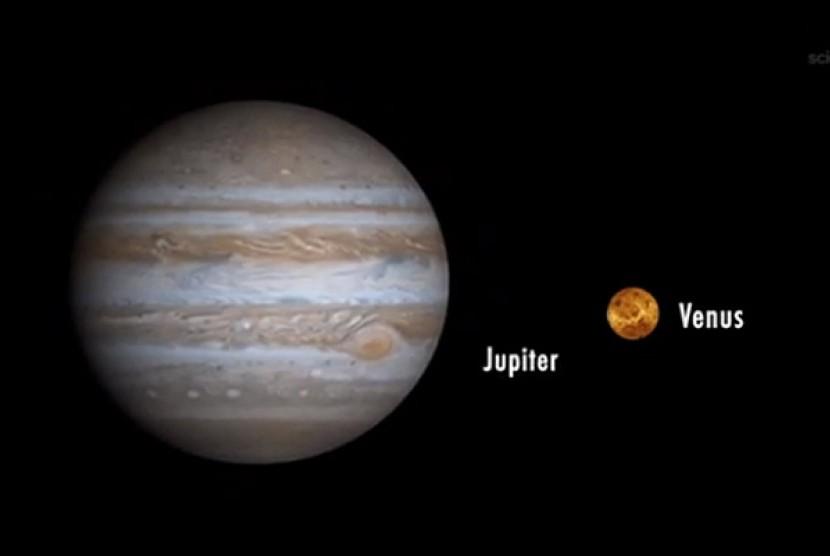 Jupiter dan Venus.
