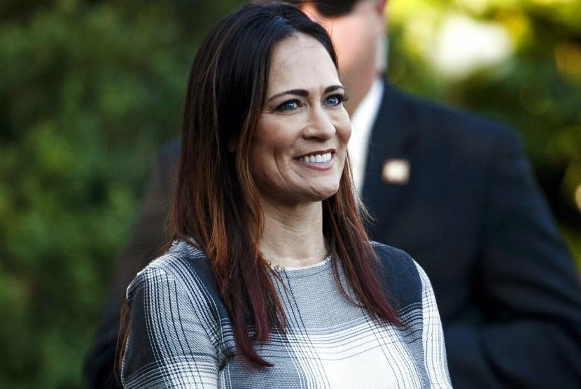 Juru bicara Gedung Putih yang baru Stephanie Grisham.