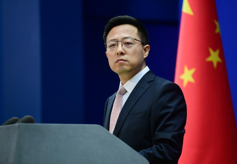 Juru Bicara Kementerian Luar Negeri Cina, Zhao Lijian.