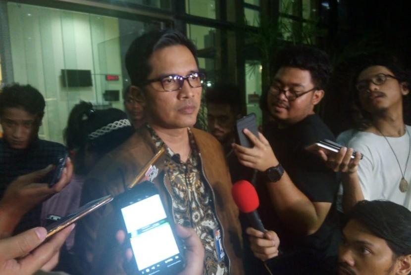 Juru Bicara KPK, Febri Diansyah di Setiabudi, Jakarta Selatan, Kamis (28/3).