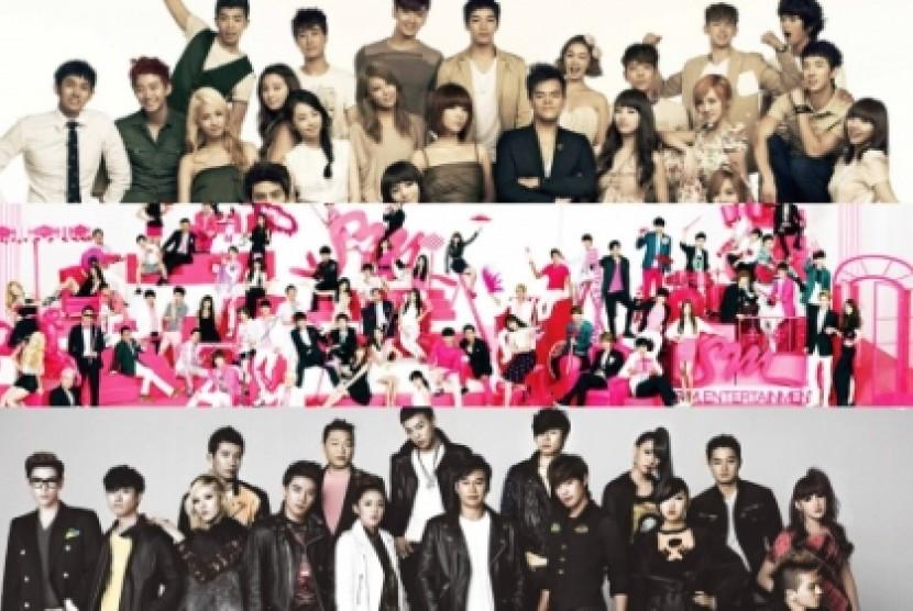 JYP, SM, dan YG