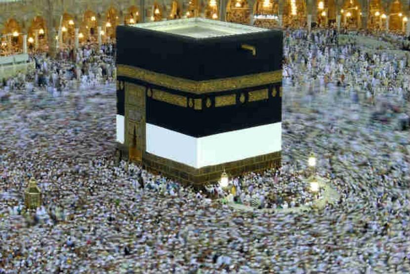 Ka'bah di Masjidil Haram, Makkah, Arab Saudi.