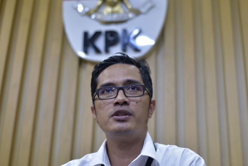 Kabiro humas yang juga jubir baru KPK Febri Diansyah.