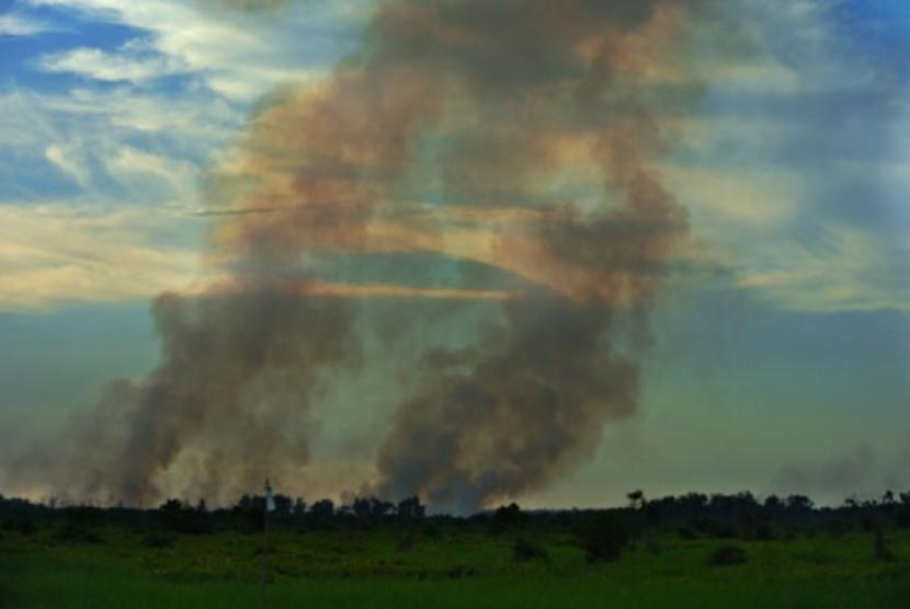 Kabut asap di Riau