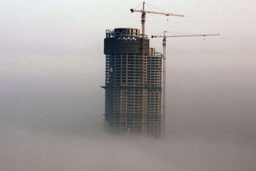 Kabut asap. Ilustrasi