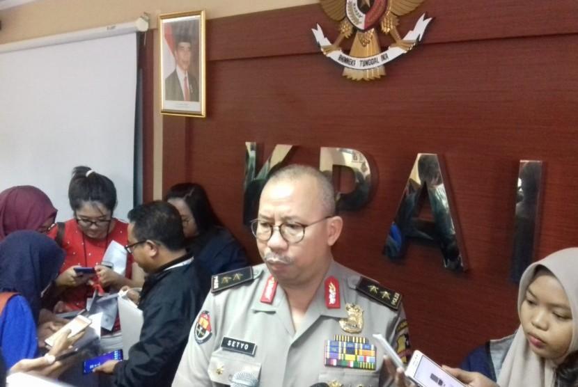 Kadiv Humas Mabes Polri, Irjen Pol Setyo Wasisto di kantor KPAI, Jumat (2/11).