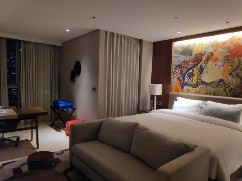 Kamar hotel. Staycation menjadi pilihan untuk mengisi libur Lebaran 2021.