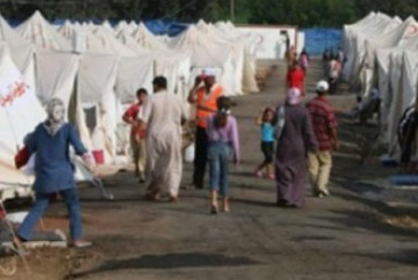 Kamp di selatan Turki, tempat para pengungsi Suriah menetap sementara.