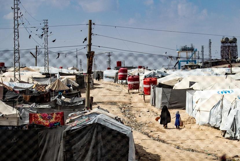 Kamp menampung keluarga yang diduga pernah terkait dengan ISIS. Ilustrasi Kamp di Suriah
