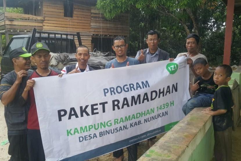 Kampung Ramadhan IZI di Desa Binusan, Kalimantan Utara.