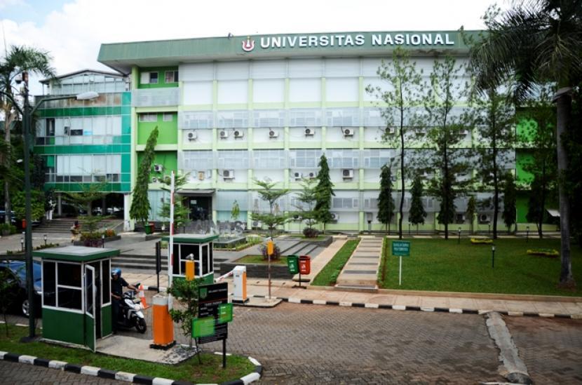 Kampus Universitas Nasional (Unas) Pejaten, Pasar Minggu, Jakarta Selatan.