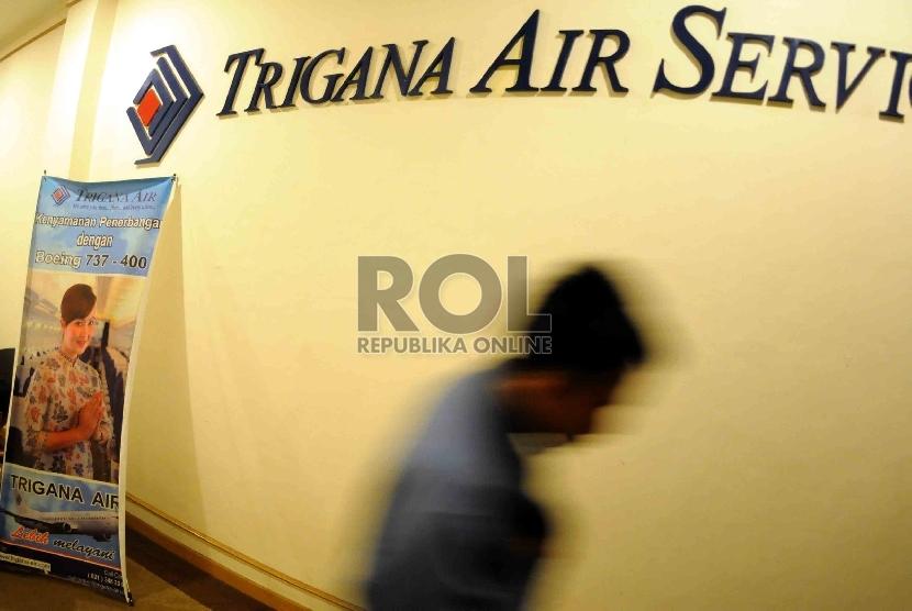 Kantor pusat maskapai Trigana Air Service di Jakarta.