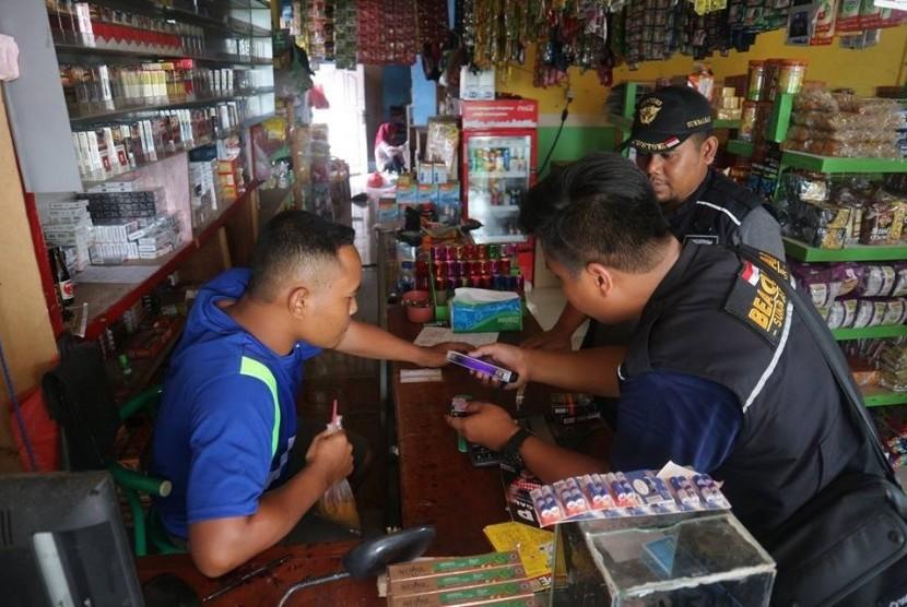 Kantor Wilayah Bea Cukai Sumatera Bagian Barat (Sumbagbar) mengamankan 428 ribu batang rokok ilegal.