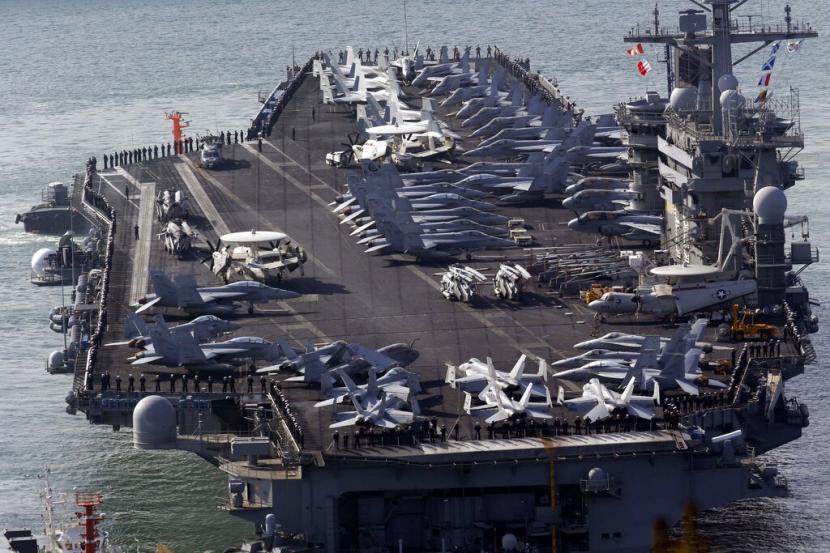 AS Kerahkan Dua Kapal Induk ke Laut China Selatan