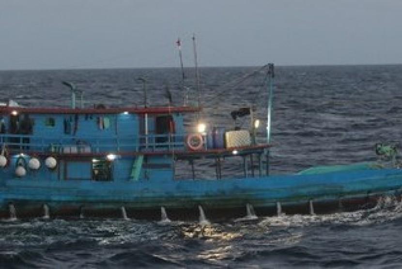 Kapal nelayan asal Indonesia ditangkap di perairan Australia pada 24 April 2019.