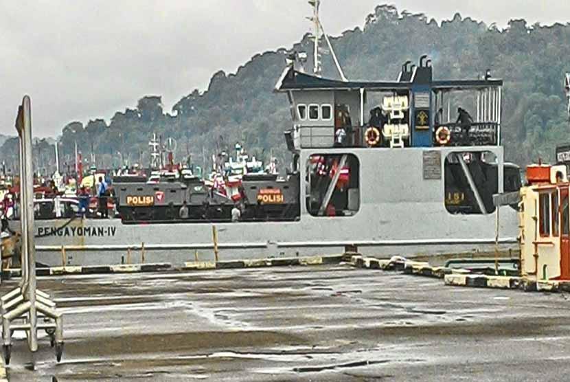 Kementerian Hukum dan HAM (kemenkumham) mengonfirmasi tenggelamnya kapal Pengayoman IV di perairan sekitar Nusakambangan. (Ilustrasi Kapal Pengayoman IV)