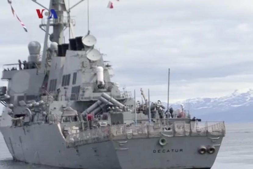 Kapal perang Amerika (ilustrasi)