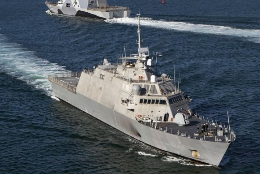 Kapal perang  Amerika Serikat (ilustrasi).