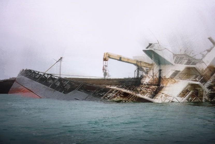Kapal tenggelam - ilustrasi