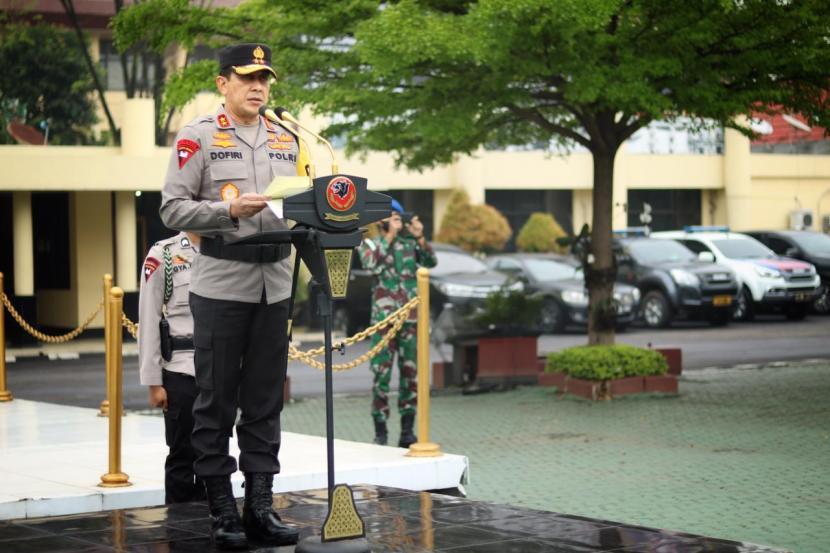 Kapolda Jabar, Irjen Pol Ahmad Dofiri memimpin Apel Operasi Keselamatan Lodaya 2021