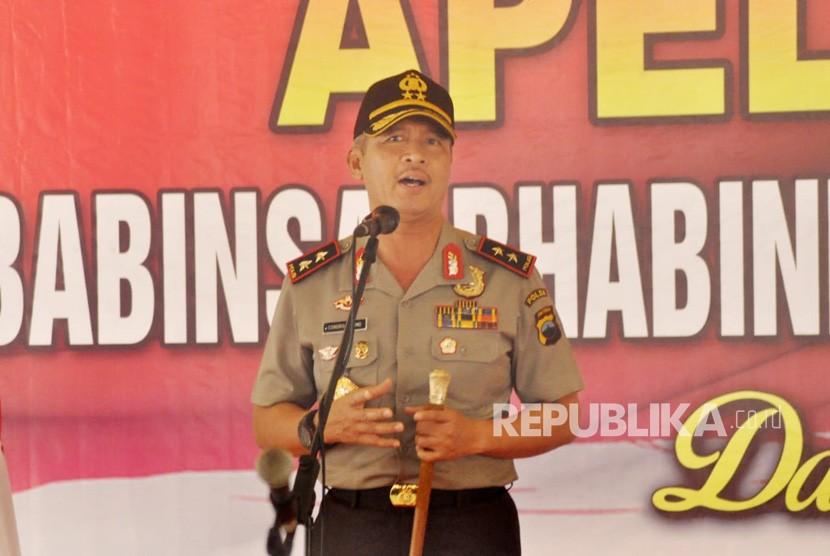 Kapolda Jawa Tengah, Irjen Pol Condro Kirono saat menghadiri Apel 3 Pilar, di Pendopo Rumah Dinas Bupati Semarang, di Ungaran, Kabupaten Semarang, Rabu (7/11).