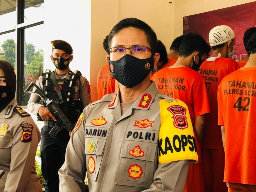 Kapolres Bogor, AKBP Harun di Markas Polres Bogor, Selasa (23/2).