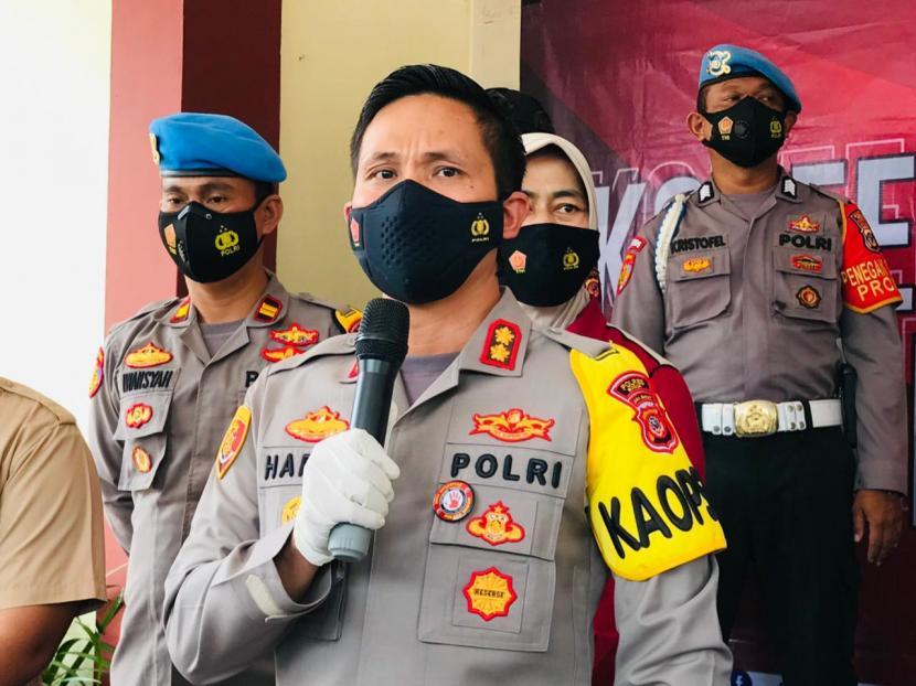 Kapolres Bogor, AKBP Harun di Mako Polres Bogor, Selasa (13/4).