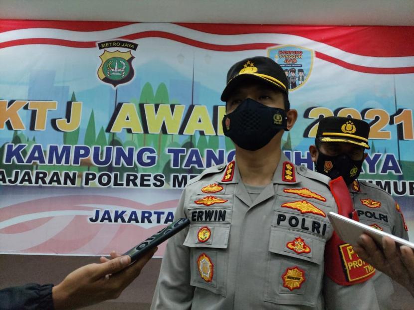 Kapolres Metro Jakarta Timur, Kombes Pol Erwin Kurniawan.