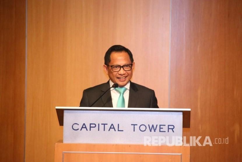 Kapolri Jenderal Polisi Tito Karnavian diundang menjadi pembicara pada International Business Forum di STI Auditorium, Singapura,  Selasa (31/7).