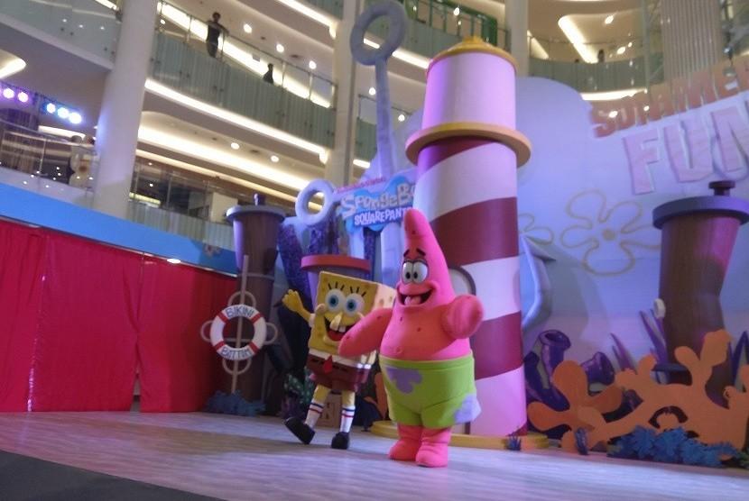 Karakter Spongebob dan Patrick dihadirkan Pluit Village Mall dalam libur lebaran dan libur sekolah kali ini
