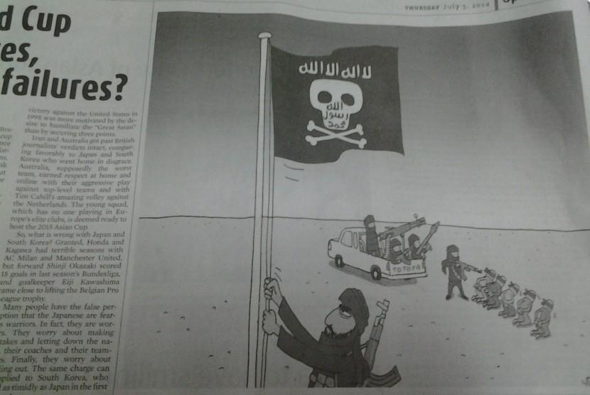 Karikatur Jakarta Post, edisi Kamis 3 Juli 2014.