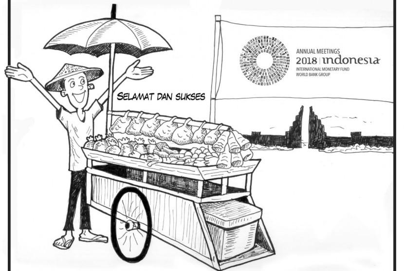 Karikatur pertemuan IMF-Bank Dunia