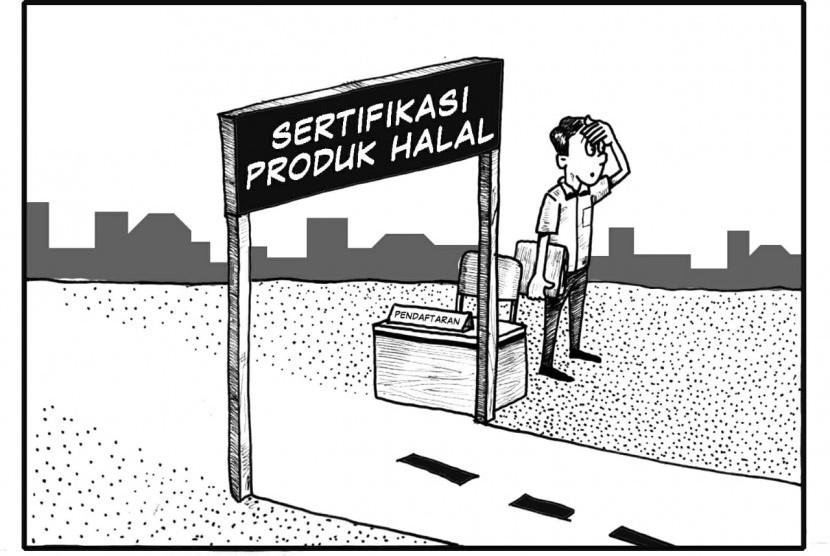 Karikatur sertifikasi halal