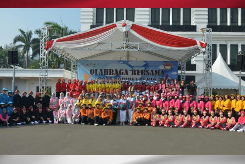 Kartini Run 2019. Ibu Negara Iriana Joko Widodo membuka gelaran Kartini Run 2019.