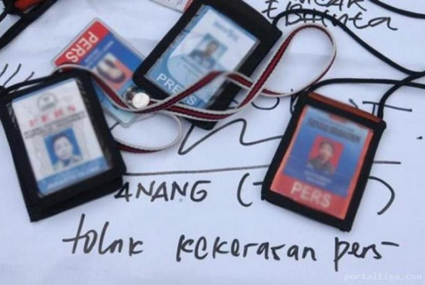 Kartu pers wartawan Indonesia (ilustrasi)