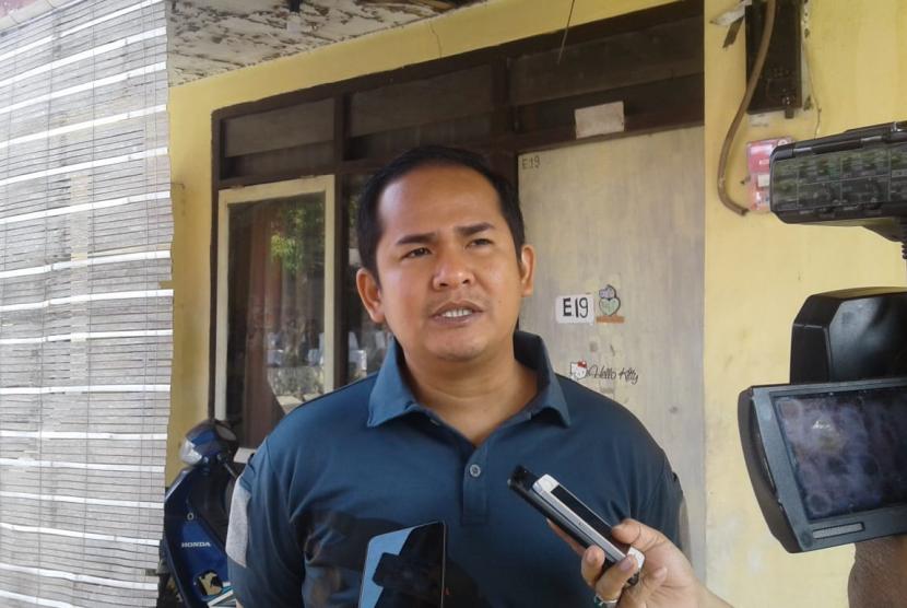 Kasat Reskrim Polres Garut AKP Maradona Mappaseng, saat diwawancara wartawan di Polres Garut, Selasa (20/8).
