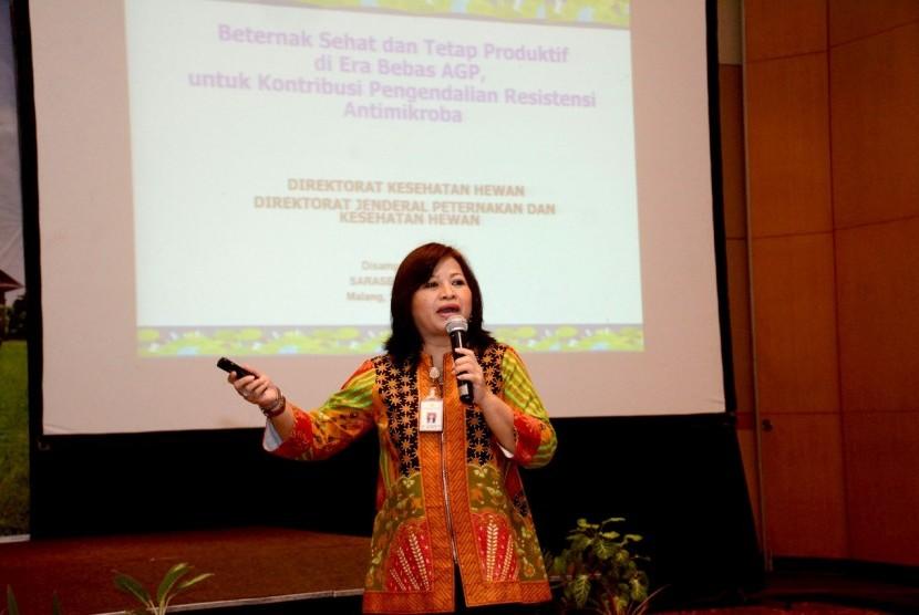 Kasubdit Pengawas Obat Hewan, Kementerian Pertanian Ni Made Ria Isriyanthi.