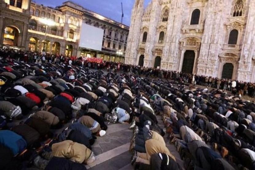 Kaum Muslimin di Sicilia, Italia.