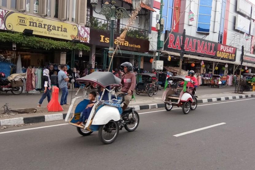 Kawasan Jalan Malioboro.