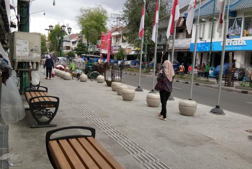 Kawasan Jalan Malioboro Yogyakarta.