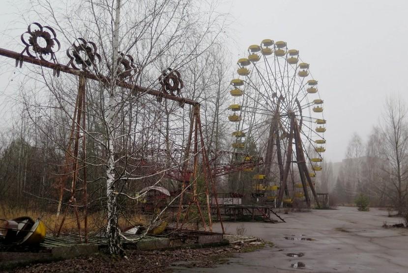 kawasan nuklir Chernobyl. Ilustrasi