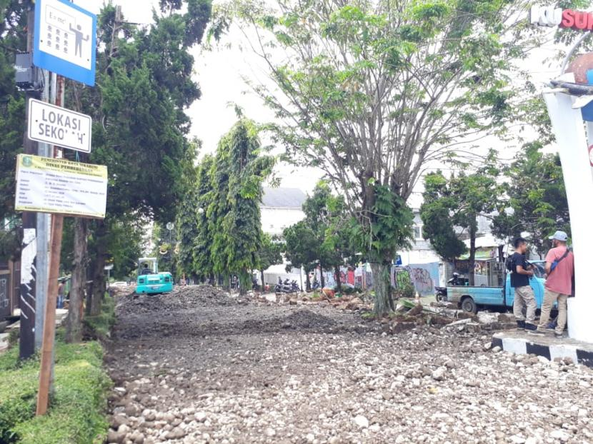 Kawasan pedestrian Jalan Ir Djuanda (Dago) Kota Sukabumi.